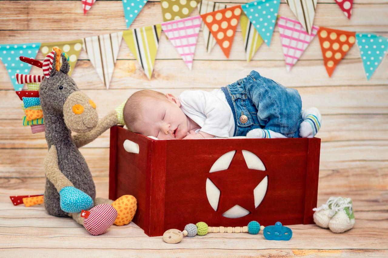 bunte Babyfotos Dresden Newborn Fotograf