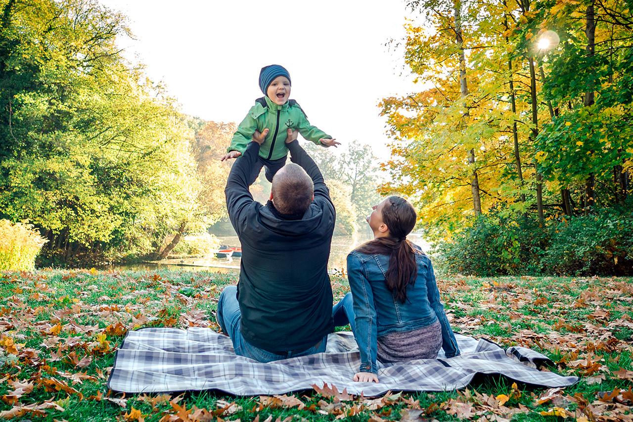 natürliche Familienfotos in Dresden