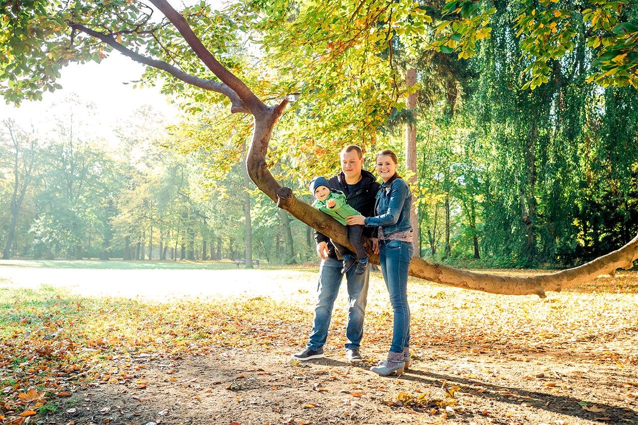 Vater Mutter und Sohn Familienfotos in Dresden