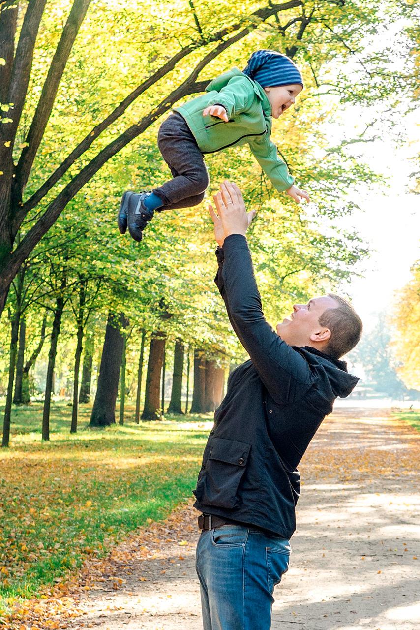 Vater und Sohn Familienfotos Dresden