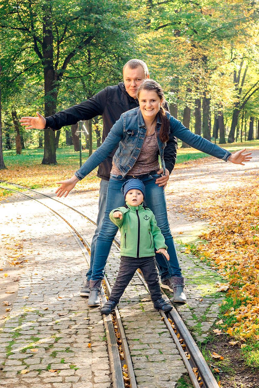 Familie im Herbst Familienfotograf Dresden